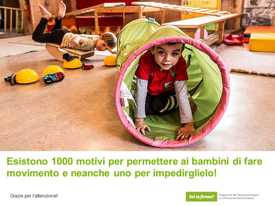 Esistono 1000 motivi per permettere ai bambini di fare movimento e neanche uno per impedirglielo! Grazie per l'attenzione!