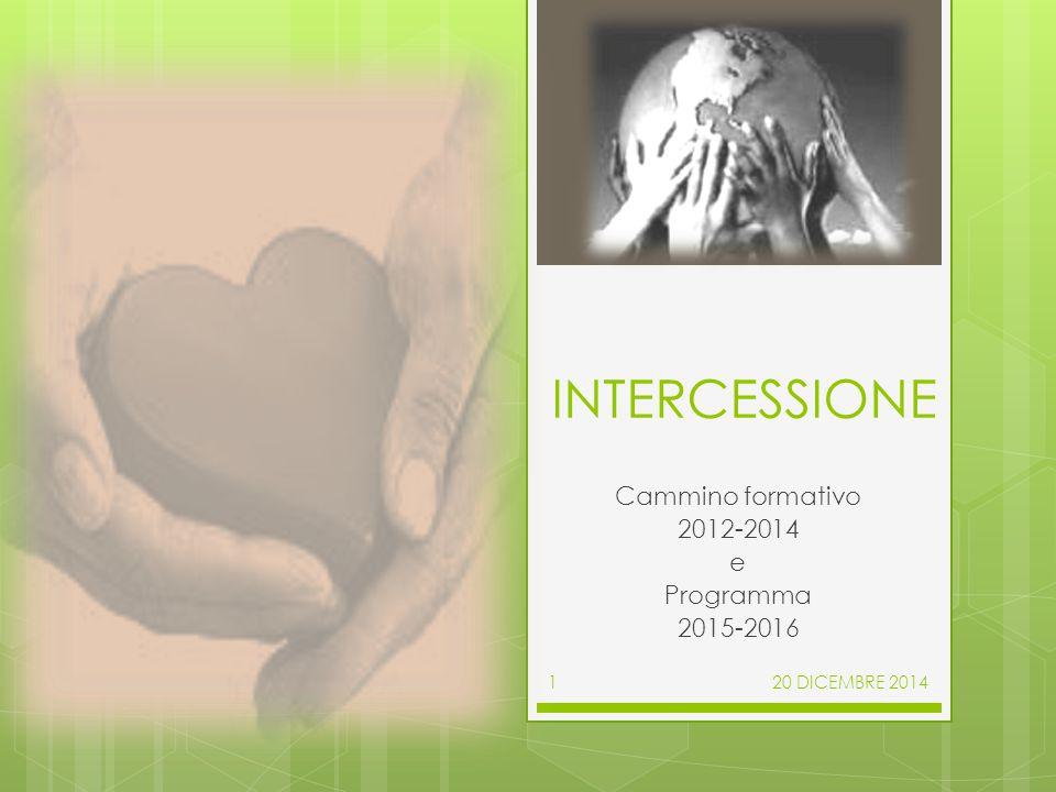 INTERCESSIONE Cammino formativo 2012-2014 e Programma 2015-2016 20 DICEMBRE 20141