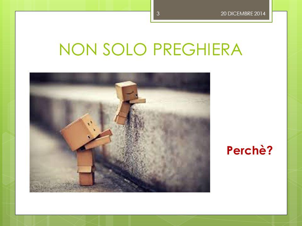 NON SOLO PREGHIERA 20 DICEMBRE 2014 Perchè 3