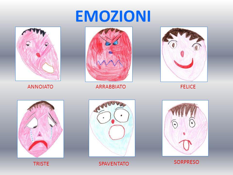 ANNOIATOARRABBIATOFELICE SPAVENTATOTRISTE SORPRESO EMOZIONI