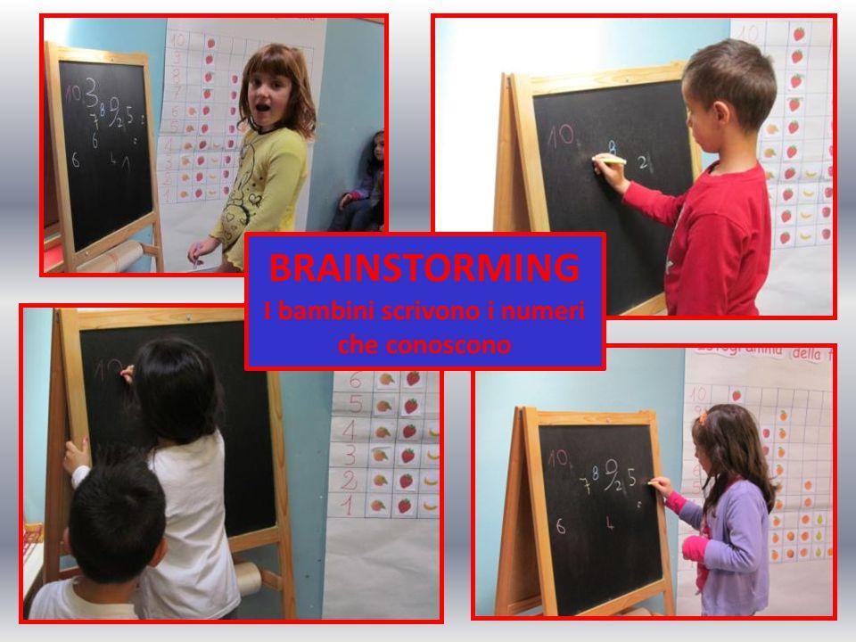 FASE II BRAINSTORMING I bambini scrivono i numeri che conoscono