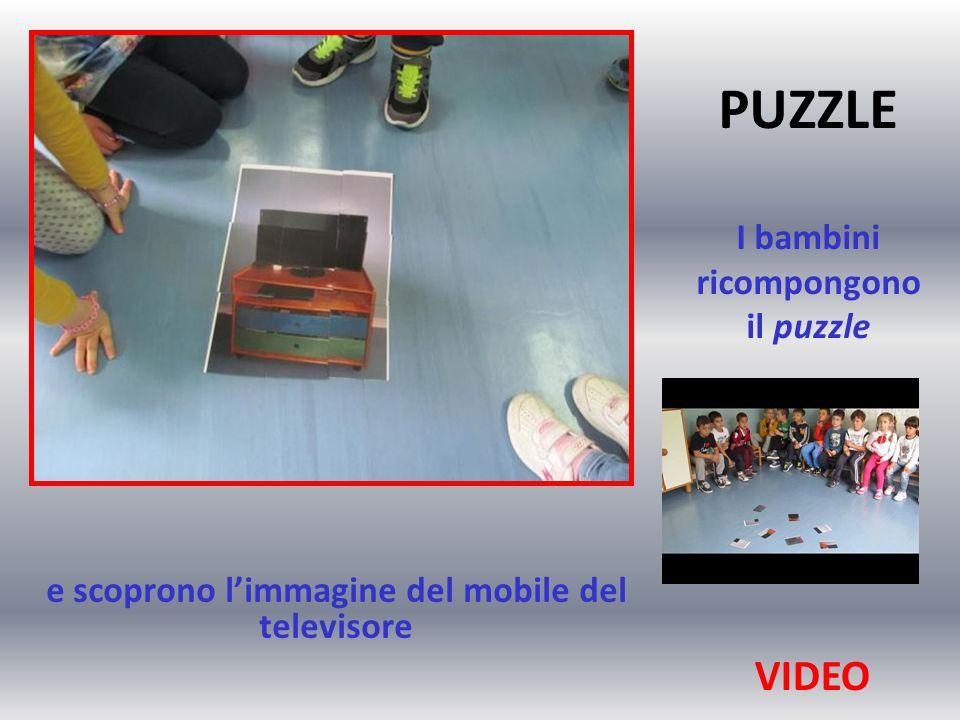 PUZZLE I bambini ricompongono il puzzle e scoprono l'immagine del mobile del televisore VIDEO