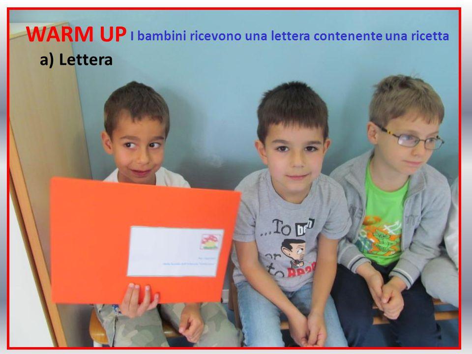 WARM UP a) Lettera I bambini ricevono una lettera contenente una ricetta