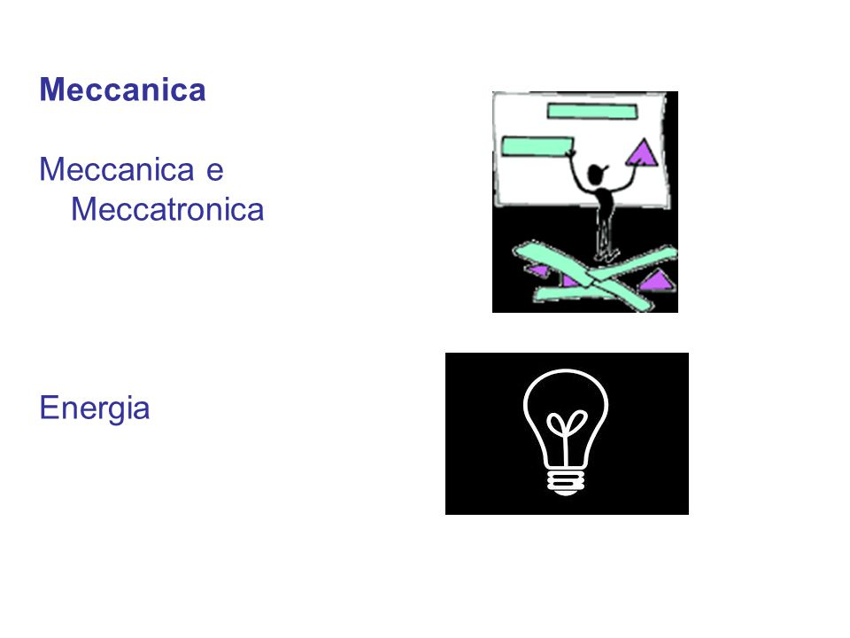 Meccanica Meccanica e Meccatronica Energia