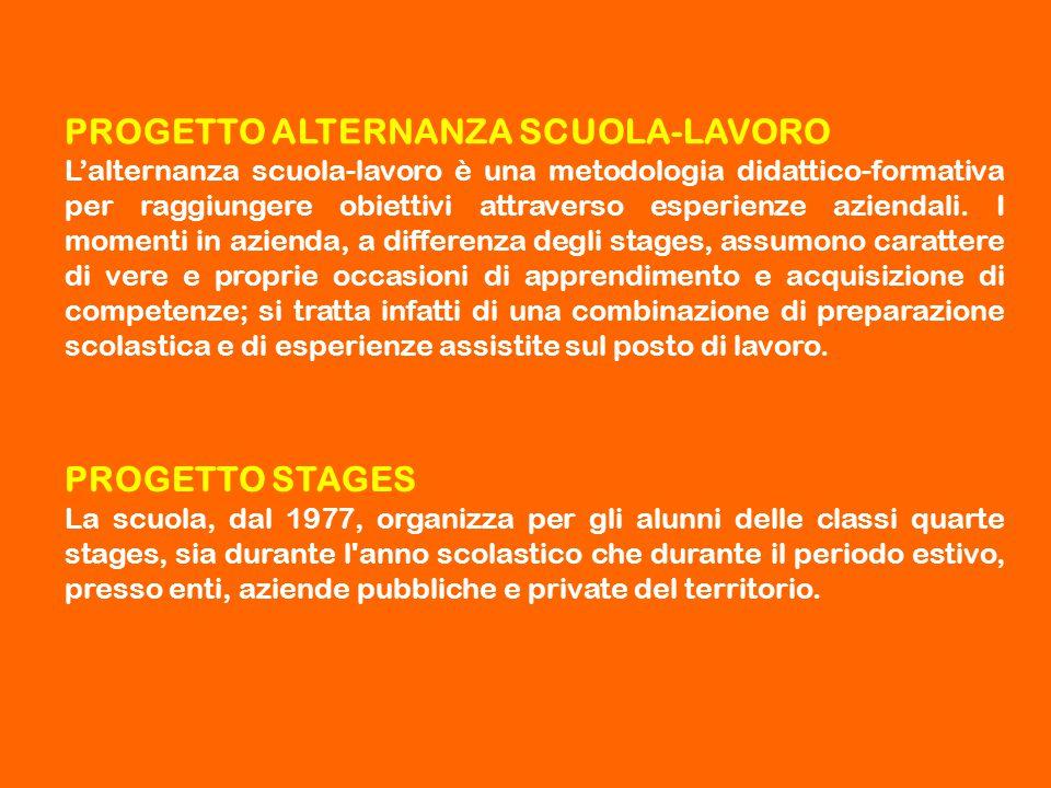 PROGETTO ALTERNANZA SCUOLA-LAVORO L'alternanza scuola-lavoro è una metodologia didattico-formativa per raggiungere obiettivi attraverso esperienze azi