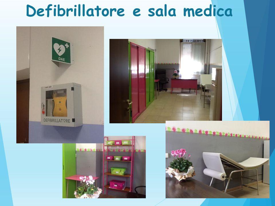 Defibrillatore e sala medica