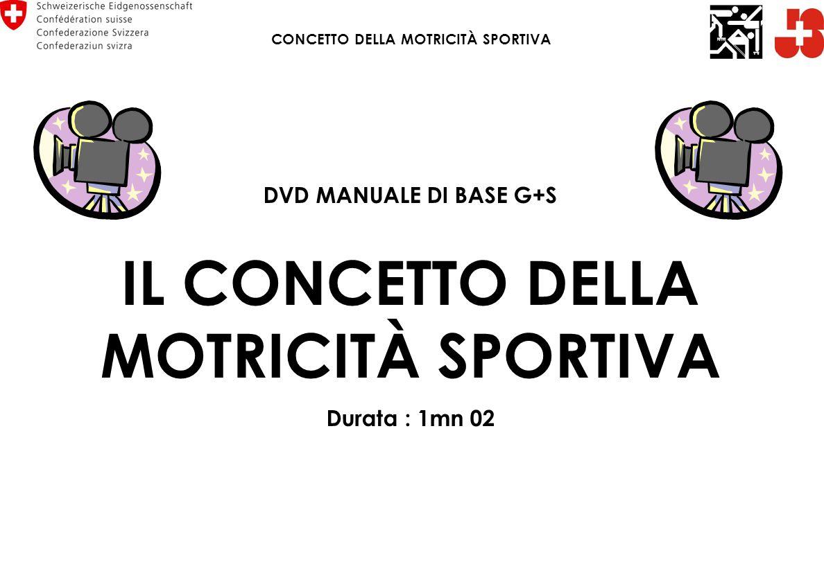 DVD MANUALE DI BASE G+S IL CONCETTO DELLA MOTRICITÀ SPORTIVA Durata : 1mn 02 CONCETTO DELLA MOTRICITÀ SPORTIVA