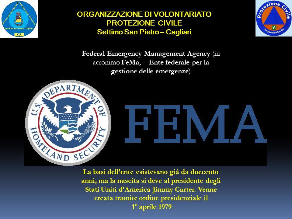 ORGANIZZAZIONE DI VOLONTARIATO PROTEZIONE CIVILE Settimo San Pietro – Cagliari LA PROTEZIONE CIVILE NAZIONALE Organizzazione e compiti istituzionali L
