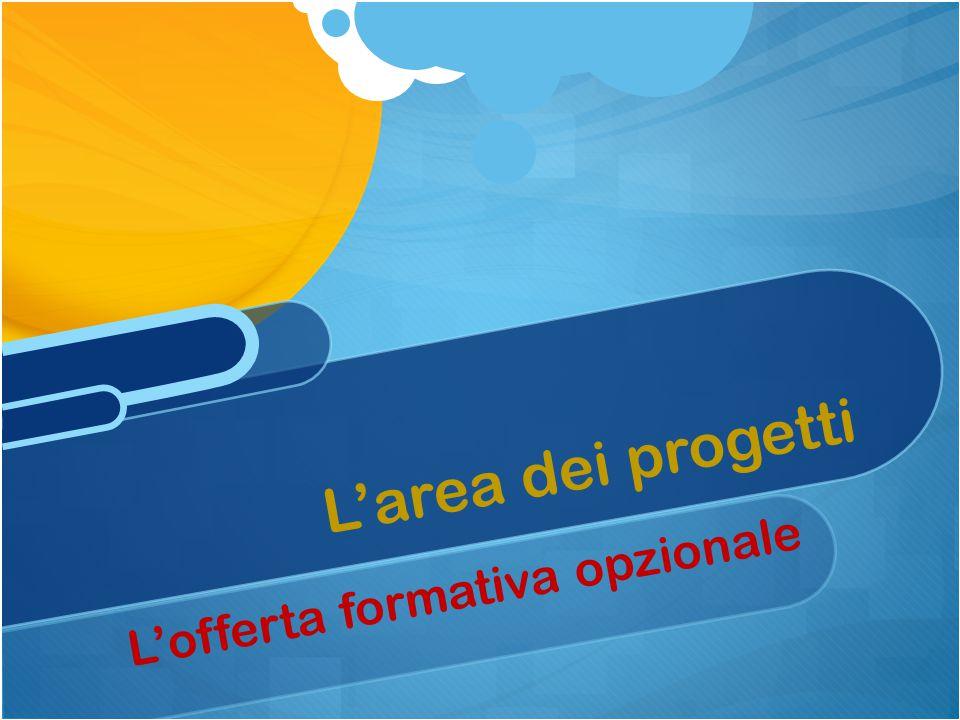 L'offerta formativa opzionale L'area dei progetti