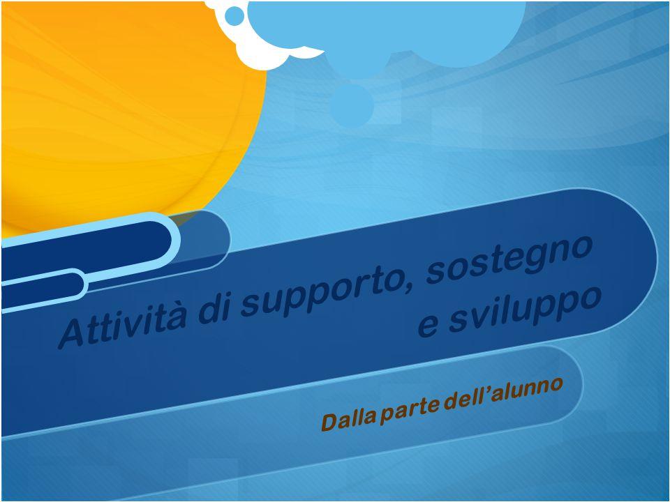 Dalla parte dell'alunno Attività di supporto, sostegno e sviluppo