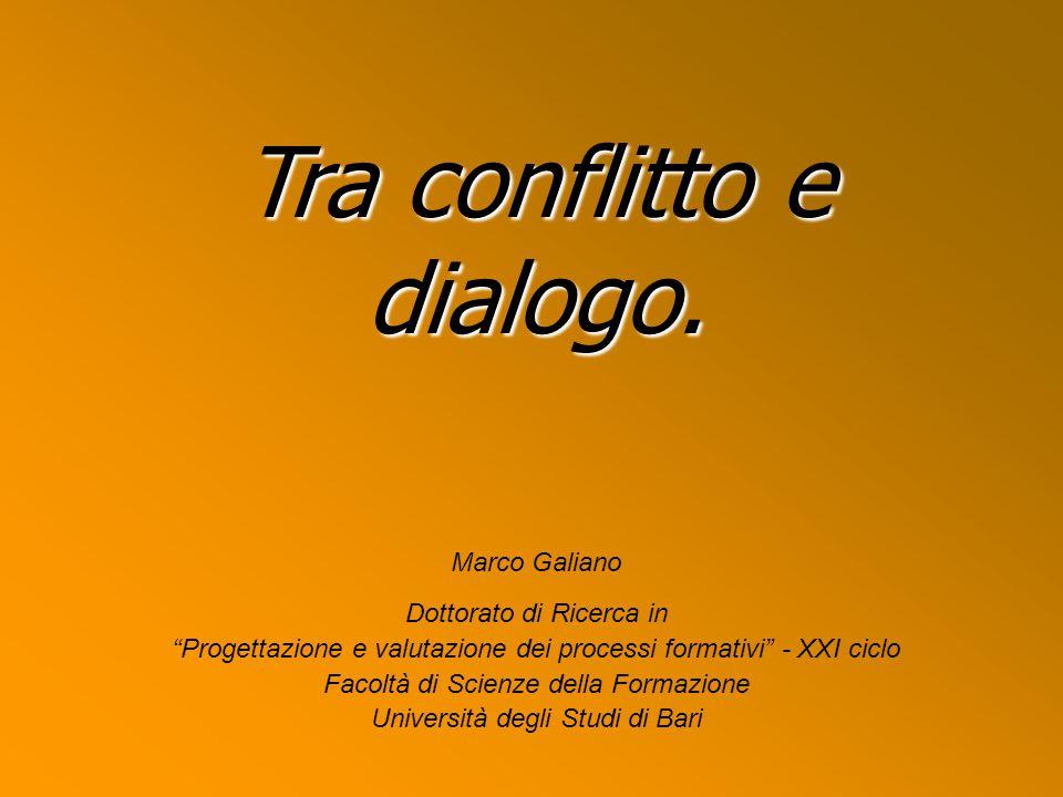 Tra conflitto e dialogo La ricerca della verità Negazione del rapporto monodirezionale, autoritario (soggetto passivo, privato di un qualsiasi spirito critico, e quindi creativo).