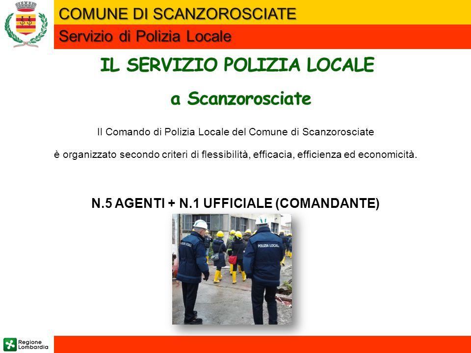 Il Comando di Polizia Locale del Comune di Scanzorosciate è organizzato secondo criteri di flessibilità, efficacia, efficienza ed economicità. N.5 AGE