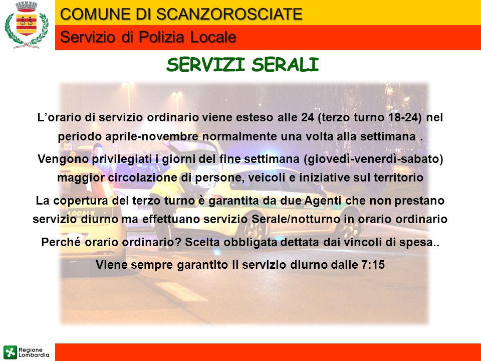 L'orario di servizio ordinario viene esteso alle 24 (terzo turno 18-24) nel periodo aprile-novembre normalmente una volta alla settimana. Vengono priv