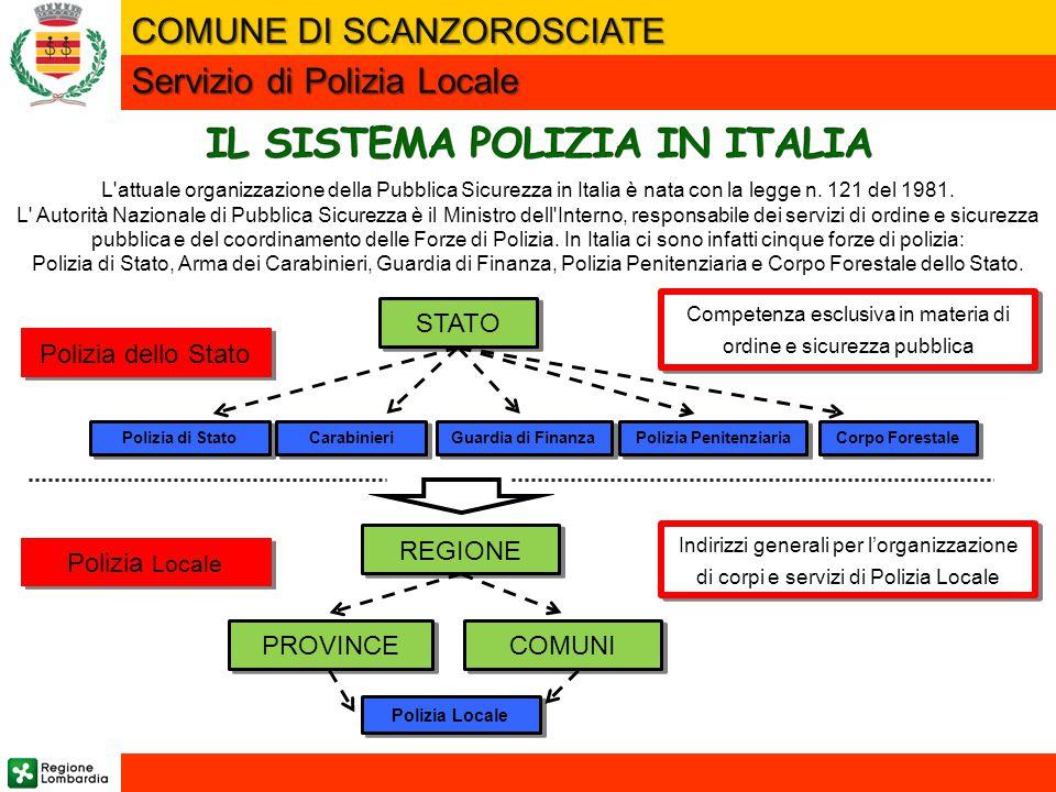 L attuale organizzazione della Pubblica Sicurezza in Italia è nata con la legge n.