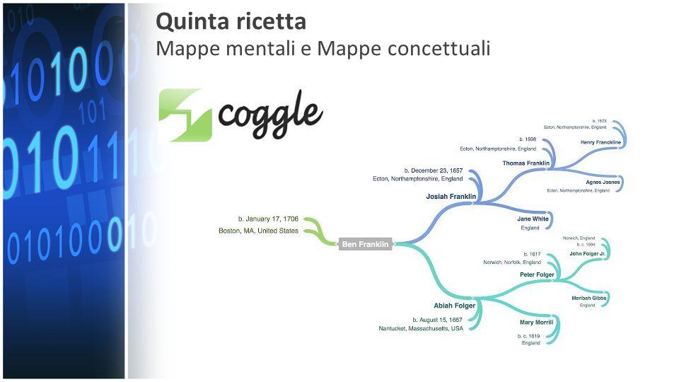 Quinta ricetta Mappe mentali e Mappe concettuali