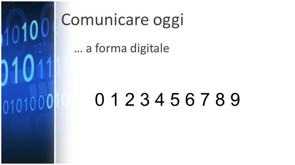 … a forma digitale 0 1 2 3 4 5 6 7 8 9 Comunicare oggi