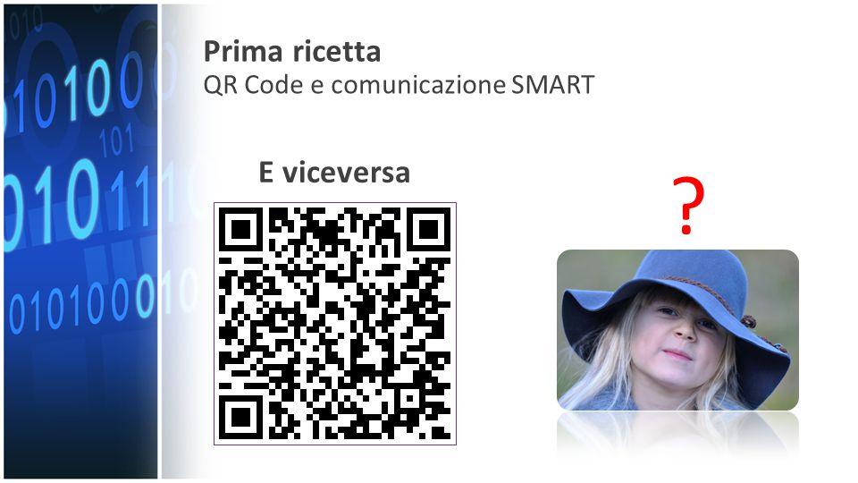 E viceversa Prima ricetta QR Code e comunicazione SMART
