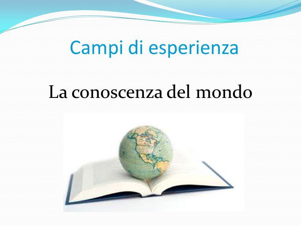 La conoscenza del mondo Campi di esperienza