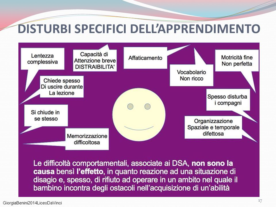 GiorgiaBenini2014LiceoDaVinci DISTURBI SPECIFICI DELL'APPRENDIMENTO 17