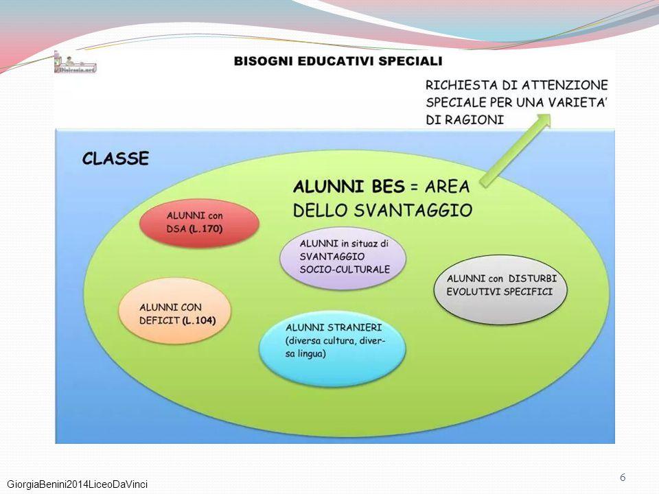 GiorgiaBenini2014LiceoDaVinci 67 DISTURBI DELLO SPETTRO AUTISTICO AUTISMO AD ALTO FUNZIONAMENTO I criteri per la diagnosi di Asperger riguardano due aree di interesse: 1.