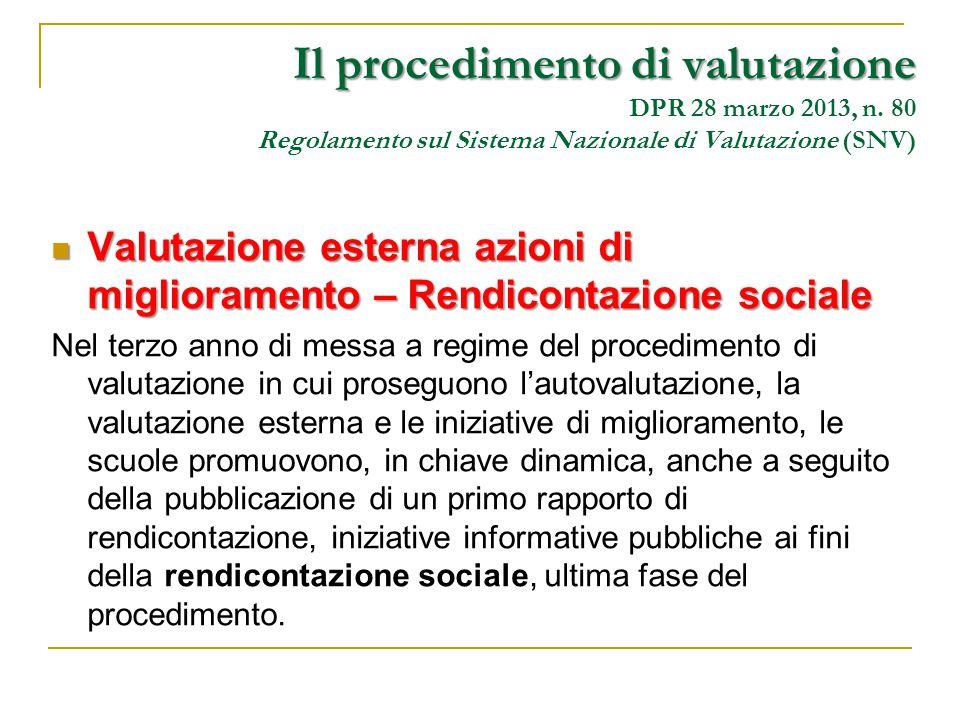 Valutazione esterna azioni di miglioramento – Rendicontazione sociale Valutazione esterna azioni di miglioramento – Rendicontazione sociale Nel terzo