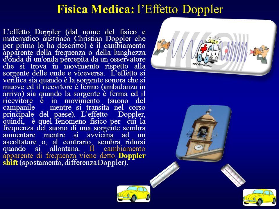 L'effetto Doppler (dal nome del fisico e matematico austriaco Christian Doppler che per primo lo ha descritto) è il cambiamento apparente della freque
