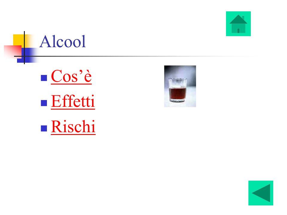 Alcool Cos'è Effetti Rischi