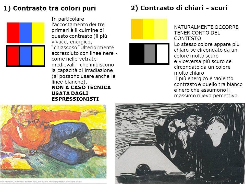 """1) Contrasto tra colori puri In particolare l'accostamento dei tre primari è il culmine di questo contrasto (il più vivace, energico, """"chiassoso"""" Ulte"""