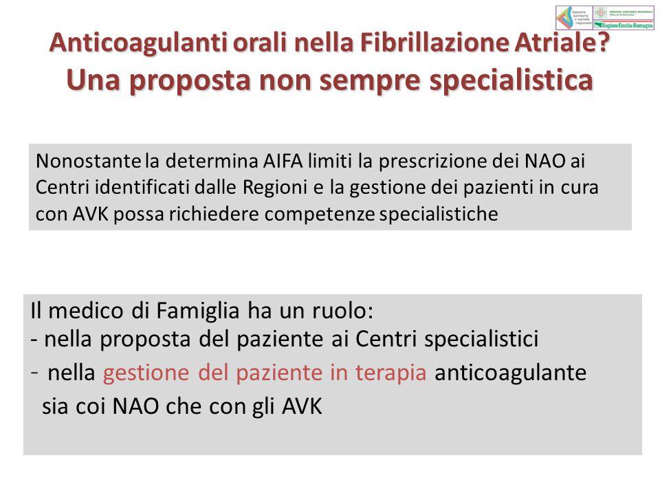 Anticoagulanti orali nella Fibrillazione Atriale.