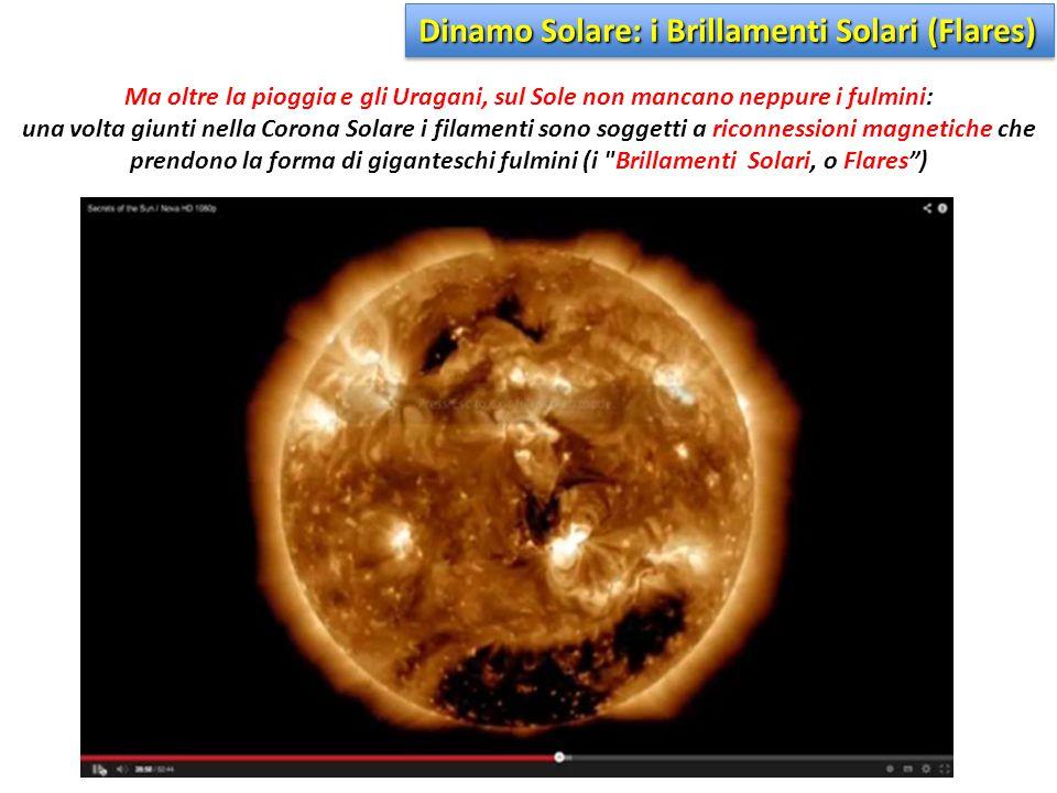 Ma oltre la pioggia e gli Uragani, sul Sole non mancano neppure i fulmini: una volta giunti nella Corona Solare i filamenti sono soggetti a riconnessi