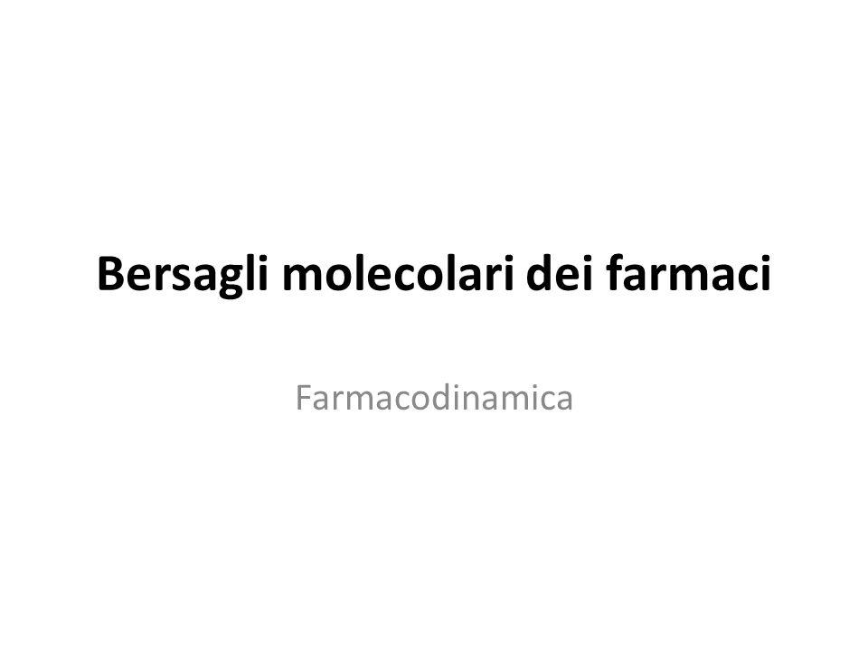 Bersagli molecolari dei farmaci Farmacodinamica