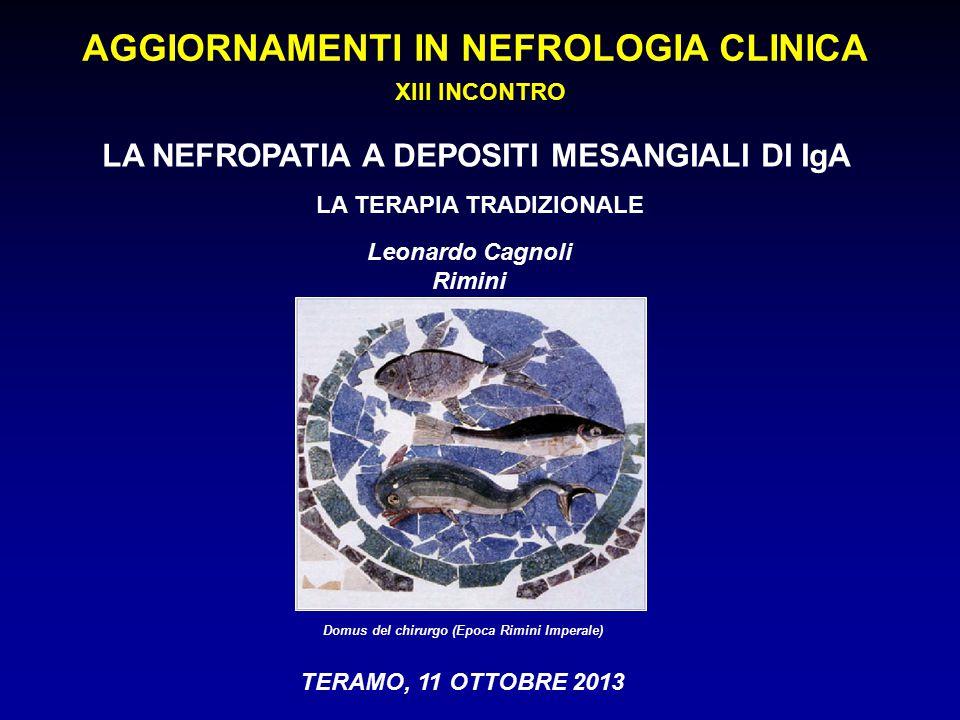 TERAMO, 11 OTTOBRE 2013 Domus del chirurgo (Epoca Rimini Imperale) Leonardo Cagnoli Rimini AGGIORNAMENTI IN NEFROLOGIA CLINICA XIII INCONTRO LA NEFROP