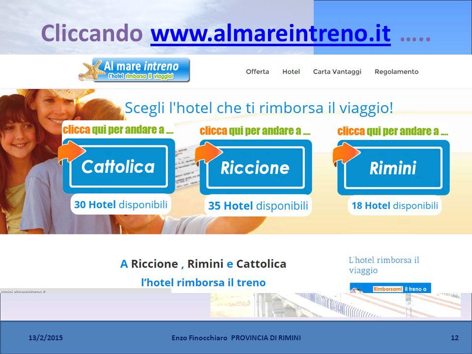 Cliccando www.almareintreno.it …..www.almareintreno.it 12 13/2/2015Enzo Finocchiaro PROVINCIA DI RIMINI