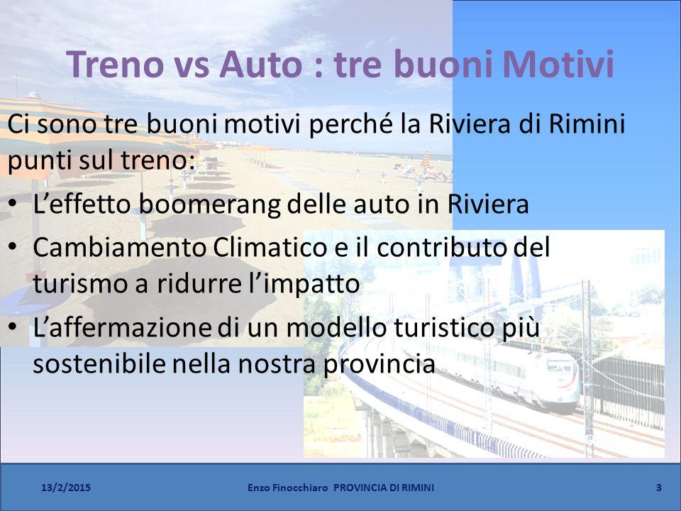 Treno vs Auto : tre buoni Motivi Ci sono tre buoni motivi perché la Riviera di Rimini punti sul treno: L'effetto boomerang delle auto in Riviera Cambi