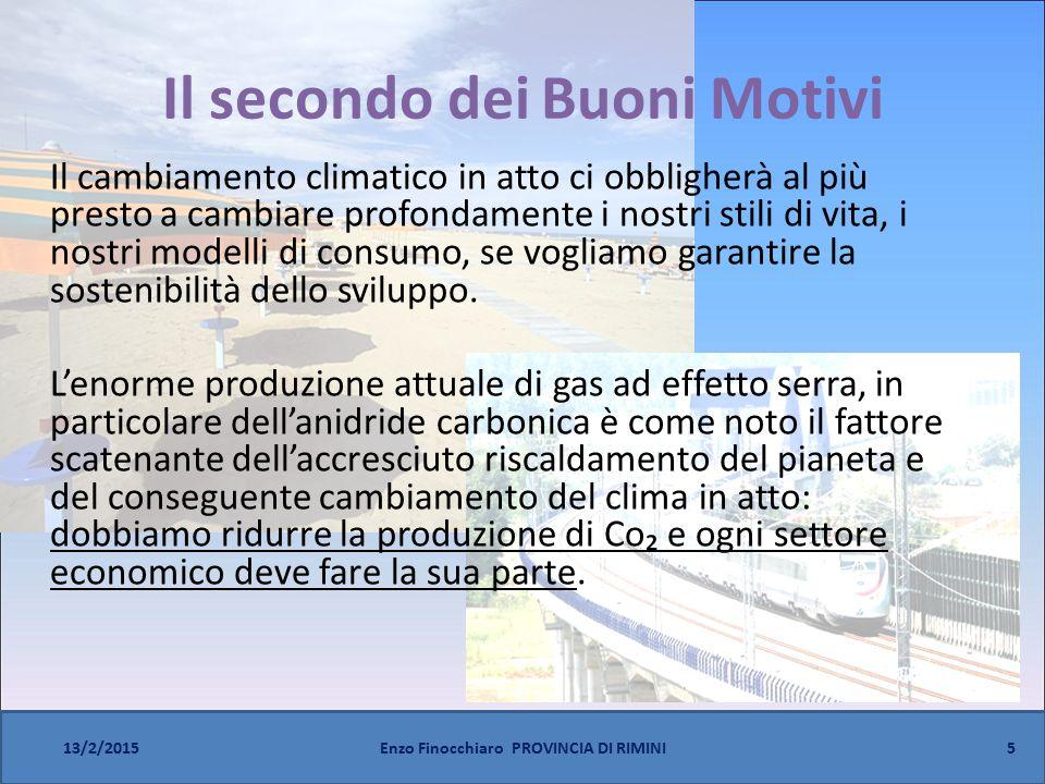 Il secondo dei Buoni Motivi Il cambiamento climatico in atto ci obbligherà al più presto a cambiare profondamente i nostri stili di vita, i nostri modelli di consumo, se vogliamo garantire la sostenibilità dello sviluppo.