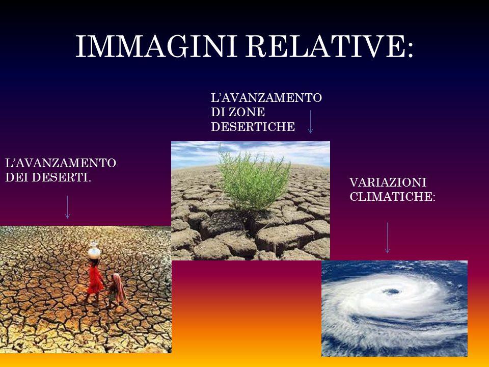 IMMAGINI RELATIVE: L'AVANZAMENTO DEI DESERTI. L'AVANZAMENTO DI ZONE DESERTICHE VARIAZIONI CLIMATICHE: