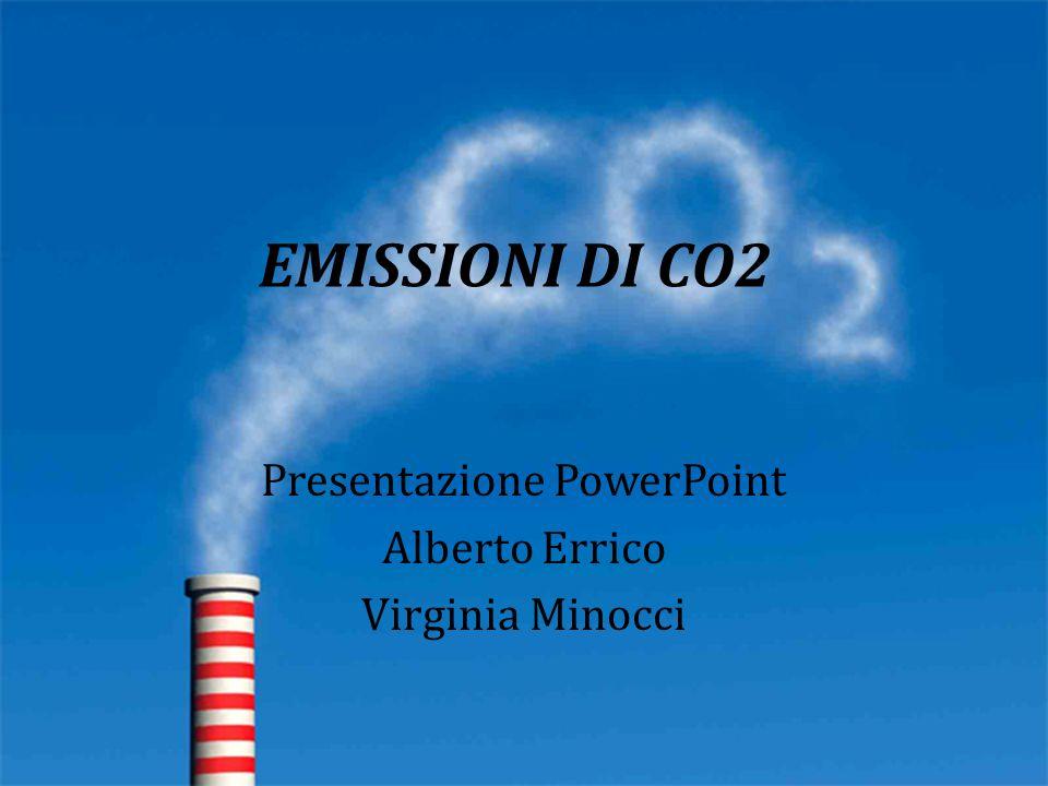 EMISSIONI DI CO2 Presentazione PowerPoint Alberto Errico Virginia Minocci