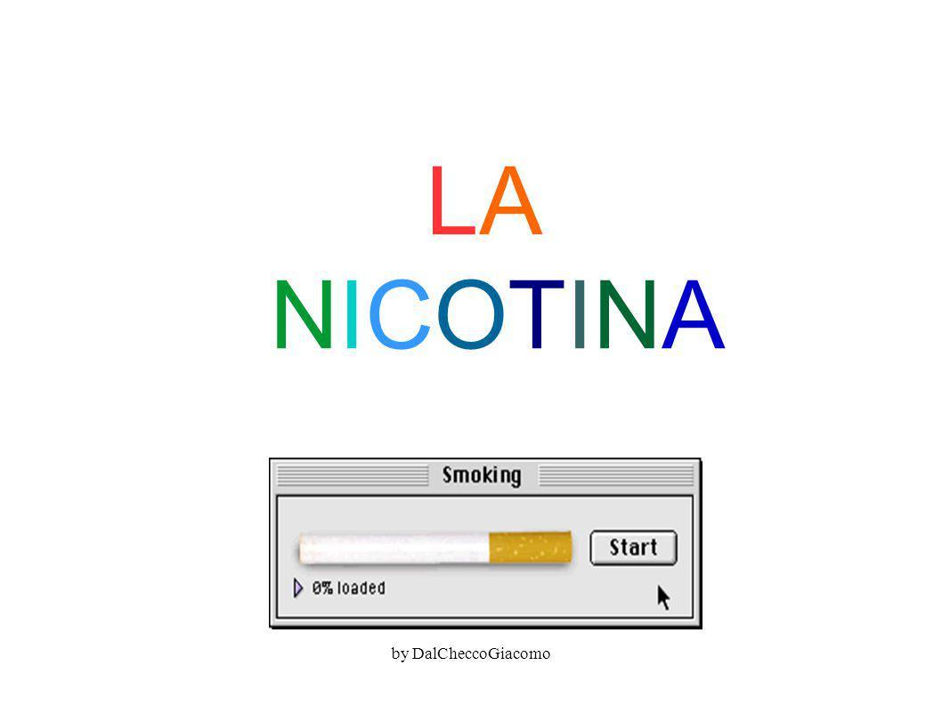 LA NICOTINALA NICOTINA