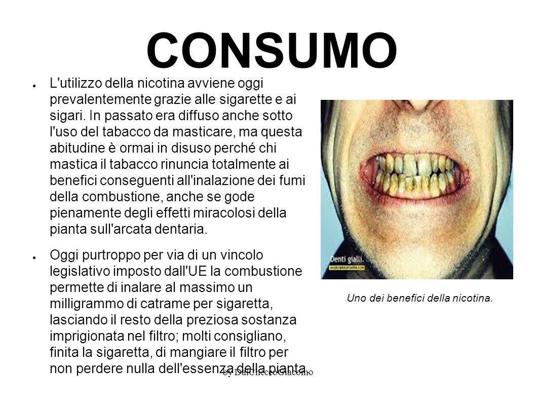 CONSUMO ● L'utilizzo della nicotina avviene oggi prevalentemente grazie alle sigarette e ai sigari. In passato era diffuso anche sotto l'uso del tabac