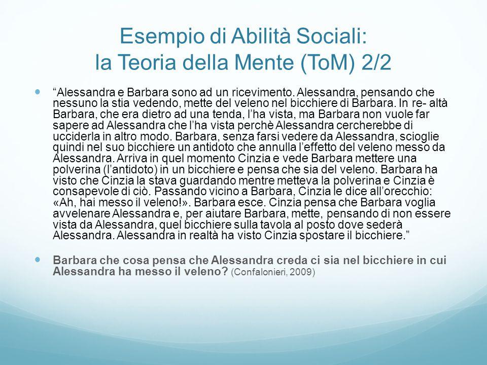 """Esempio di Abilità Sociali: la Teoria della Mente (ToM) 2/2 """"Alessandra e Barbara sono ad un ricevimento. Alessandra, pensando che nessuno la stia ved"""