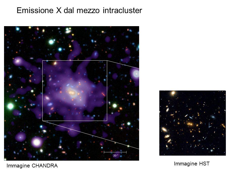 Emissione X dal mezzo intracluster Immagine HST Immagine CHANDRA