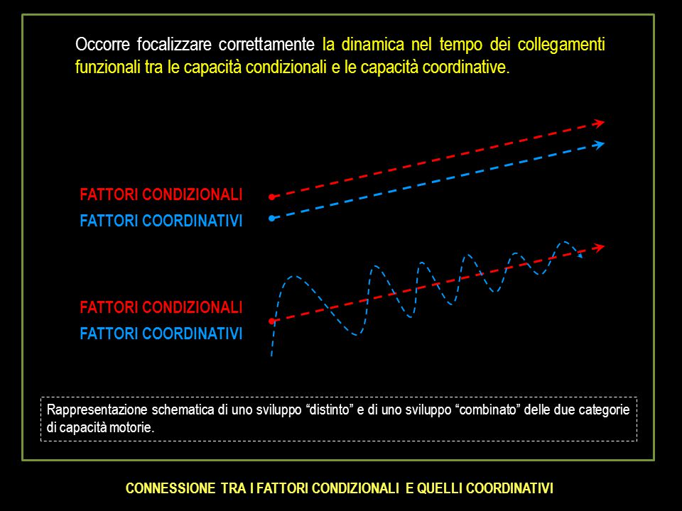 x x x x x x x x x x x x x x x x x x x x x x x x x x x x x x x x x x x SETTIMANE LIVELLO DELLA CAPACITA' Componente coordinativa del potenziale motorio Componente condizionale del potenziale motorio SVILUPPO E DIMINUZIONE DELLA COMPONENTE COORDINATIVA E DELLA COMPONENTE CONDIZIONALE DEL POTENZIALE MOTORIO PER EFFETTO DELL'ALLENAMENTO E DELLA SUA INTERRUZIONE Interruzione dell'allenamento