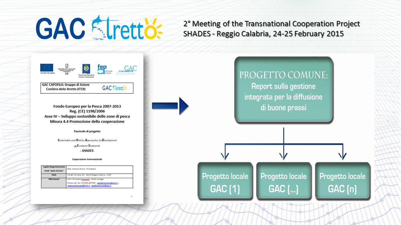 I partners del progetto SHADES: - GAC Šilutės, Lituania - GAC Taurages, Lituania - GAC Pradolina Łeby, Polonia - GAC Golfo Artabro, Spagna - GAC Borghi Marinari della Sibaritide, Italia - GAC CostiHera, Italia - GAC Perla del Tirreno, Italia - GAC Medio Ionio, Italia - GAC Costa degli Dei, Italia 15 2° Meeting of the Transnational Cooperation Project SHADES - Reggio Calabria, 24-25 February 2015