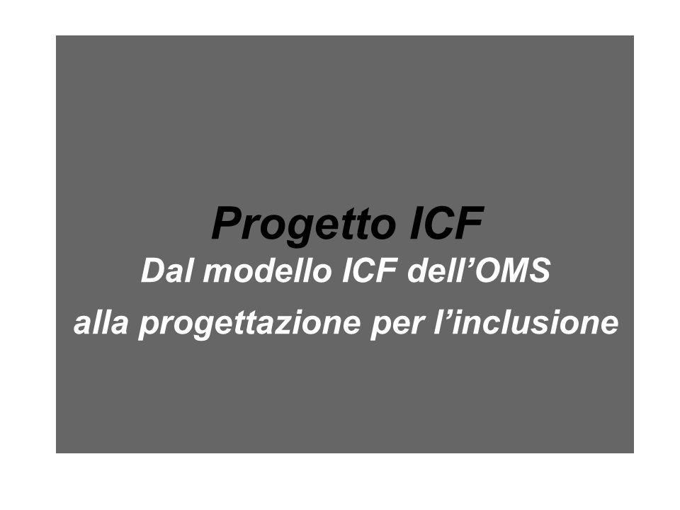 Progetto ICF Dal modello ICF dell'OMS alla progettazione per l'inclusione