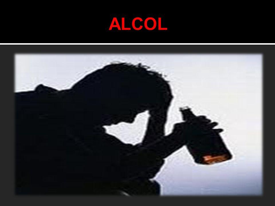 Con il termine alcol si intende comunemente riferirsi all' ALCOL ETILICO o ETANOLO che è il componente psicoattivo presente nelle bevande alcoliche.