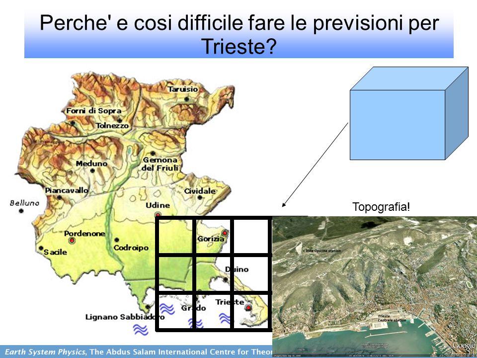 Perche e cosi difficile fare le previsioni per Trieste Topografia!
