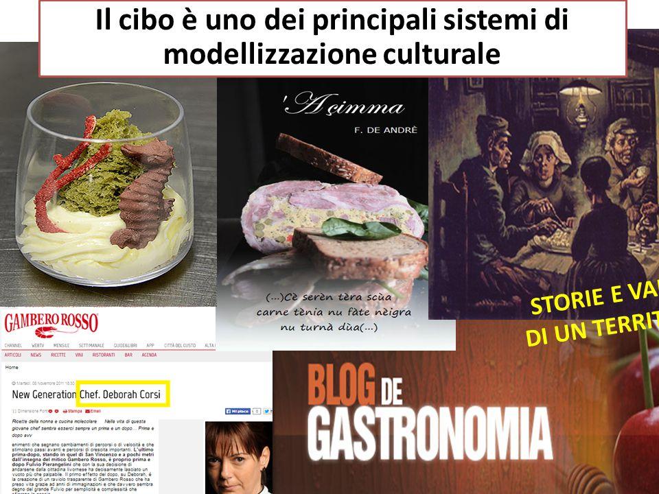 Il cibo è uno dei principali sistemi di modellizzazione culturale STORIE E VALORI DI UN TERRITORIO