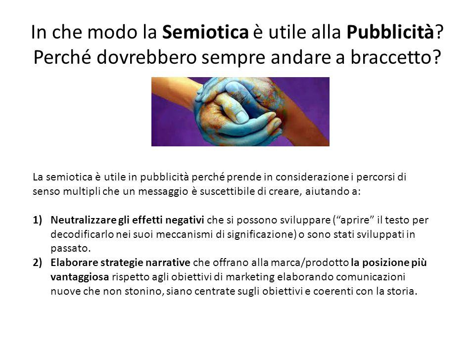 In che modo la Semiotica è utile alla Pubblicità.Perché dovrebbero sempre andare a braccetto.