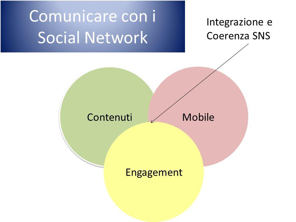 Contenuti Mobile Engagement Integrazione e Coerenza SNS Comunicare con i Social Network