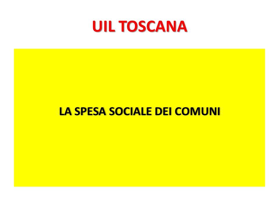 UIL TOSCANA LA SPESA SOCIALE DEI COMUNILA SPESA SOCIALE DEI COMUNI